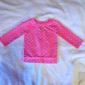 Carter's brand toddler top in bright pink. 18 mo